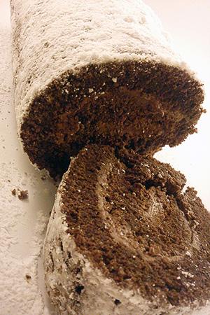 Χιονισμένο Σοκολατένιο Ρολό