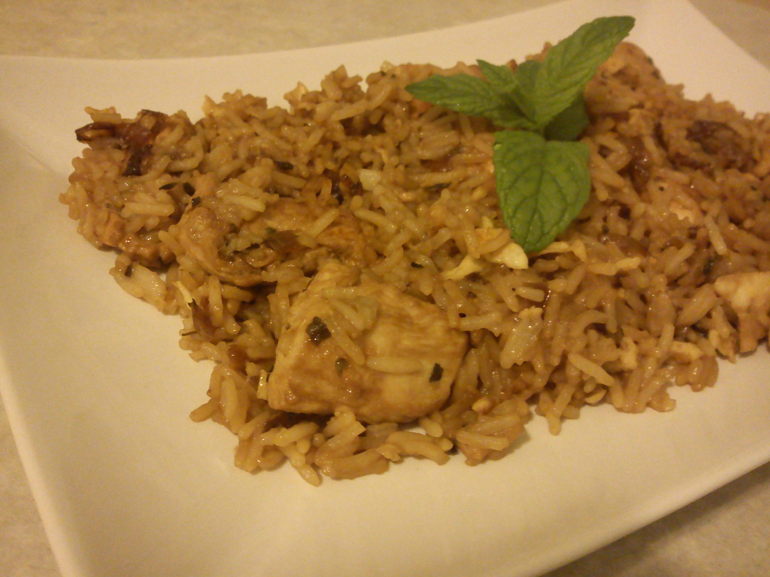 Τηγανιτό ρύζι με κοτόπουλο