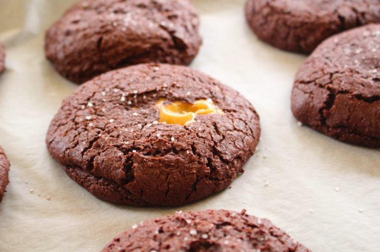 Cookies σοκολάτας με καραμέλα